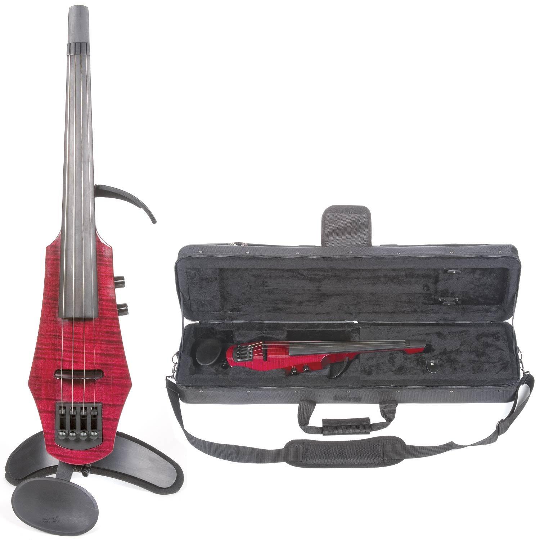 NS Design WAV-4 Electric 4-String Transparent Red Violin with Hard Case