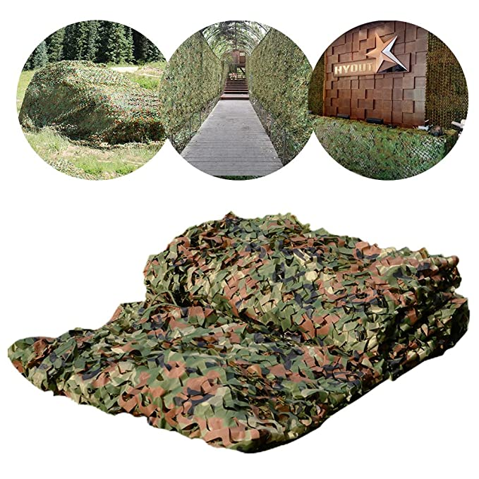 HYOUT Camouflage Netting, 6 5x10ft Camo Net Blinds Great for Sunshade  Camping Shooting Hunting Christmas Party Decoration