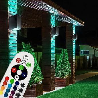 LED Außen Haus Wand Strahler Fassaden Lampe Garten Beleuchtung Fackel Leuchte