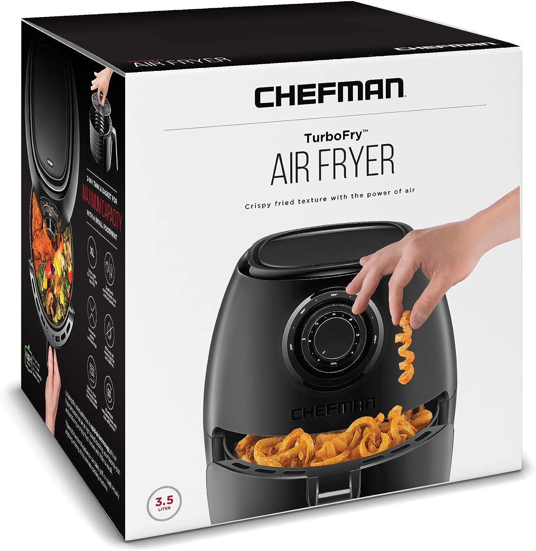 Chefman TurboFry horno freidora de aire de 3.6 cuartos con ...