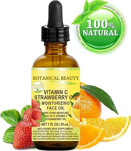 VITAMIN C FRESA Aceite. Aceite facial humectante. Anti-envejecimiento, regenerador y nutritivo