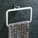 OLQMY Towel ring, copper plated chrome towel ring, toilet square towel ring