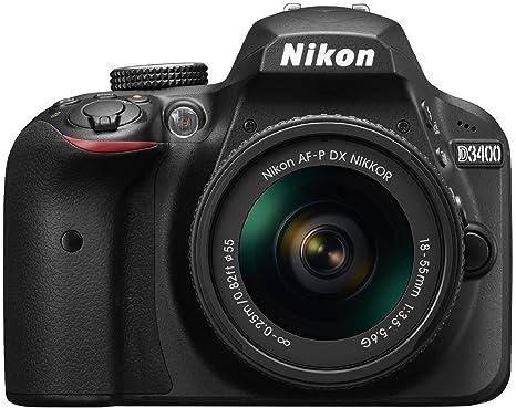 Nikon D3400 24.2 MP Digital SLR Camera  Black  + AF P DX Nikkor 18 55mm f/3.5 5.6G VR Lens Kit + Memory Card + Camera Bag Digital SLR Cameras