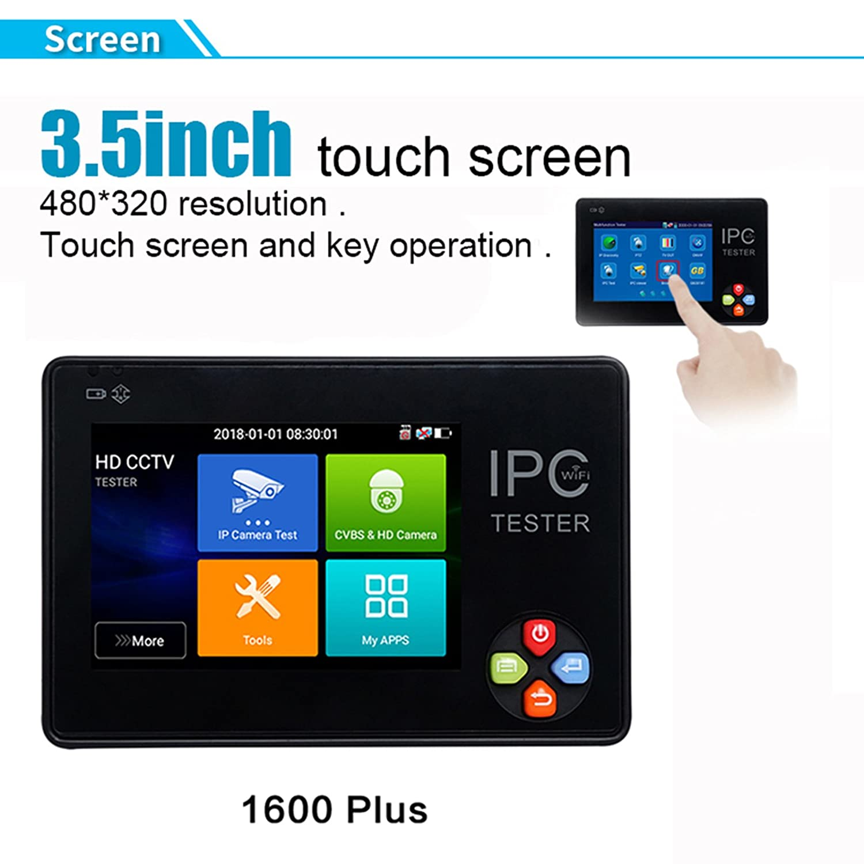 IPC-1600plus 3.5インチタッチスクリーン   4K IP CCTVテスターモニター CVBS HD 1080Pカメラテスト サポートPTZ ONVIF内蔵無線LAN カメラに対応 工事用映像テスター B07BQW5D79