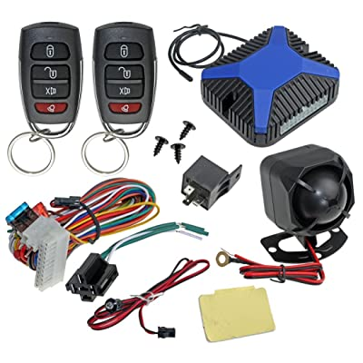 InstallGear Car Alarm Security & Keyless Entry System, Trunk Pop with Two 4-Button Remotes: Car Electronics