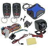 InstallGear Car Alarm Security & Keyless Entry System, Trunk Pop with Two 4-Button Remotes (Tamaño: Alarm & Keyless Entry)