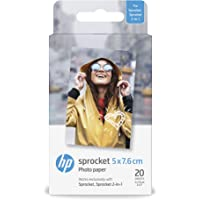 HP ZINK - Papel fotográfico adhesivo (20 hojas/5