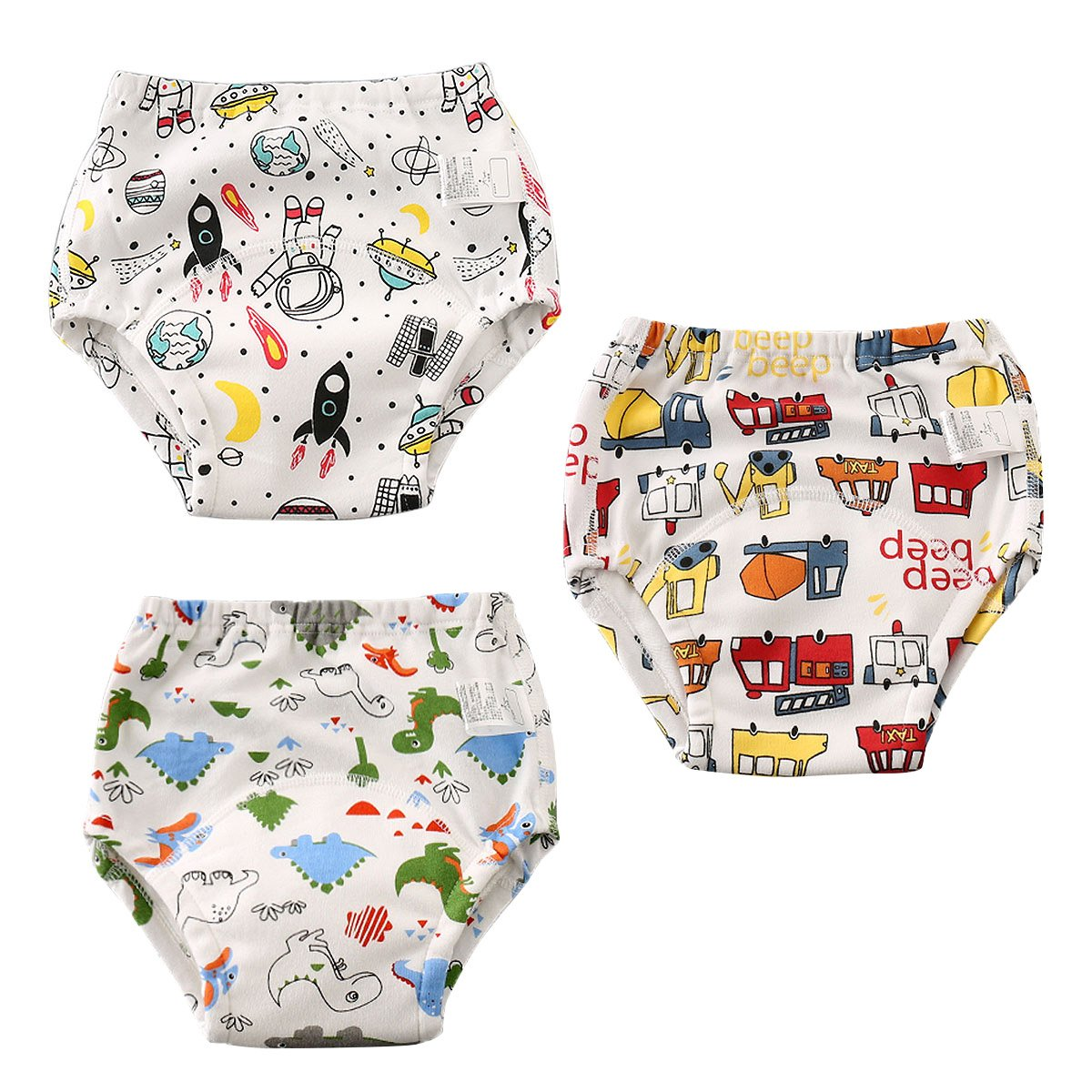 Aolawu Baby Traininghose Waschbar Trainerhosen Baumwolle Windelhose Toilettentraining Unterhose Set Wiederverwendbar Lernwindel-100