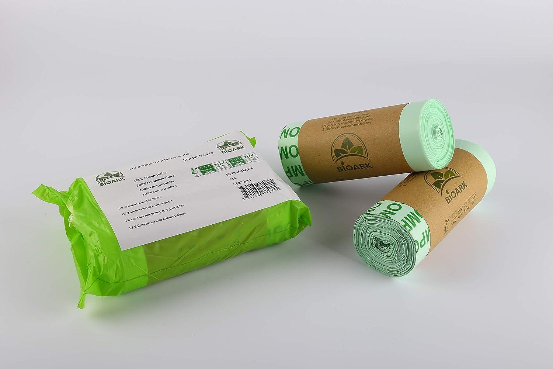 Bolsa de basura biodegradable 100% BIOARK, 30 litros, 50 unidades ...