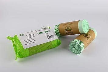Bolsa de basura biodegradable 100% BIOARK, 30 litros, 50 ...