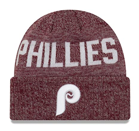 03ca3baaa New Era Philadelphia Phillies MLB Cooperstown Crisp Colored Cuffed Knit Hat