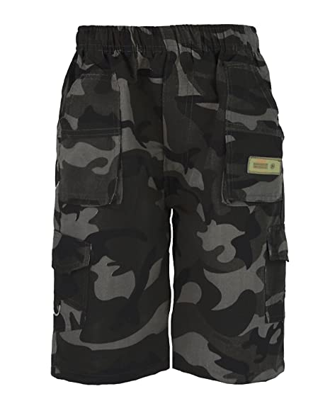 Amazon.com  Kids Plain   Camouflage Multipocket Shorts Boys Army ... c5a0fd08230