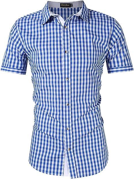 Amazon.com: Camisa de hombre de Babiera de Kojooin, para la ...