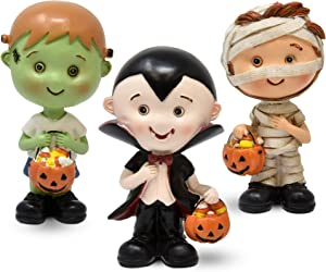 Gift Boutique Halloween Figurine Decoration Set, 3 Pack Costumed Child Figurines Decor for Home, Resin Collectibles