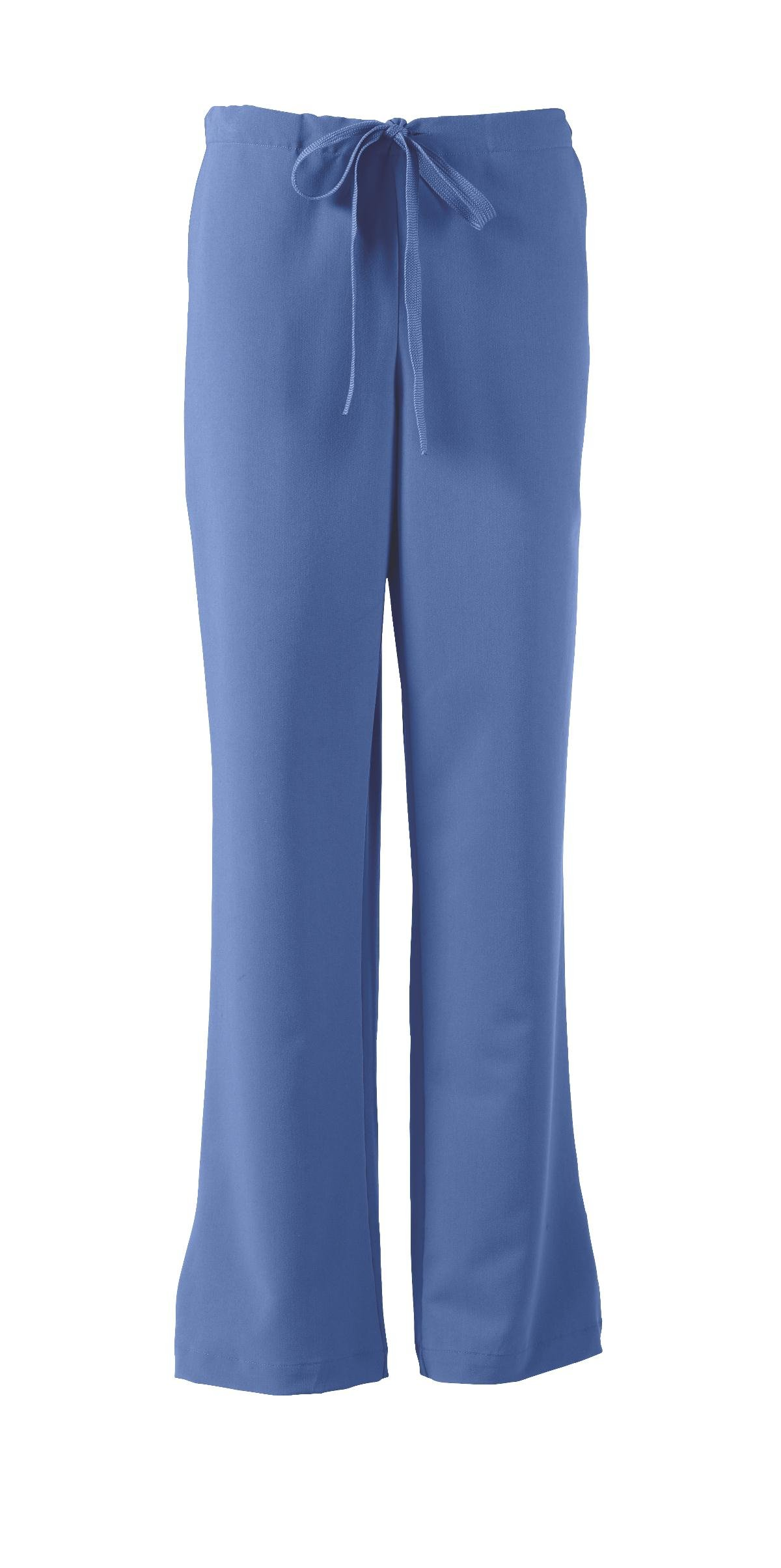 ave Women's Medical Scrub Pants, Melrose ave, Bootcut Style, Drawstring and Elastic Waist, Great for Nurses, Ceil Blue, 2X-Large Tall