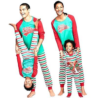 U-WARDROBE Christmas Family Pajamas Set Daddy Mommy Boys Girls Kids
