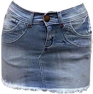 LADIES grey short mini denim SKIRT SIZE  10 by NAUGHTY designer NEW