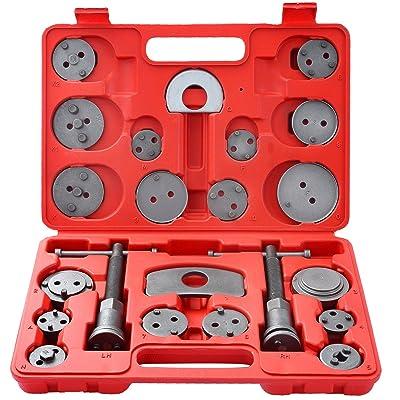 DASBET 22pcs Universal Disc Brake Caliper Piston Compressor Wind Back Repair Tool Kit for Cars: Automotive