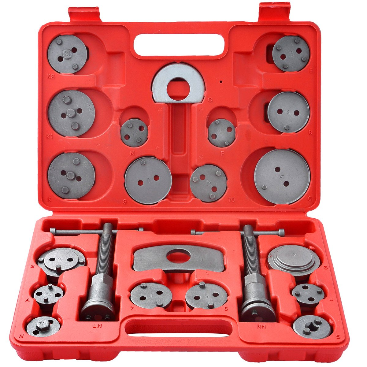 DASBET 22pcs Universal Disc Brake Caliper Piston Compressor Wind Back Repair Tool Kit for Cars by DASBET (Image #1)