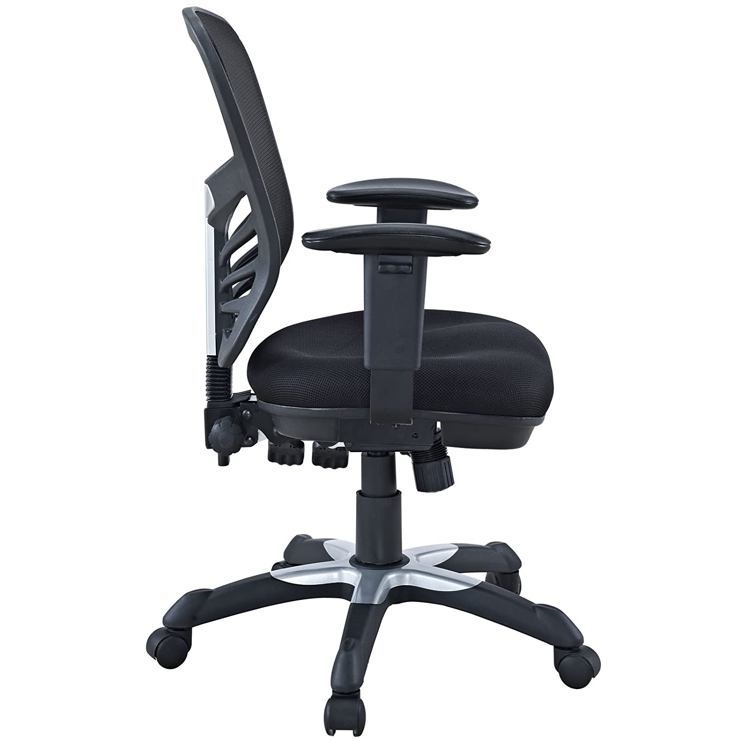 Black and white office chair - Amazon Com Modway Articulate Black Mesh Office Chair Kitchen Dining