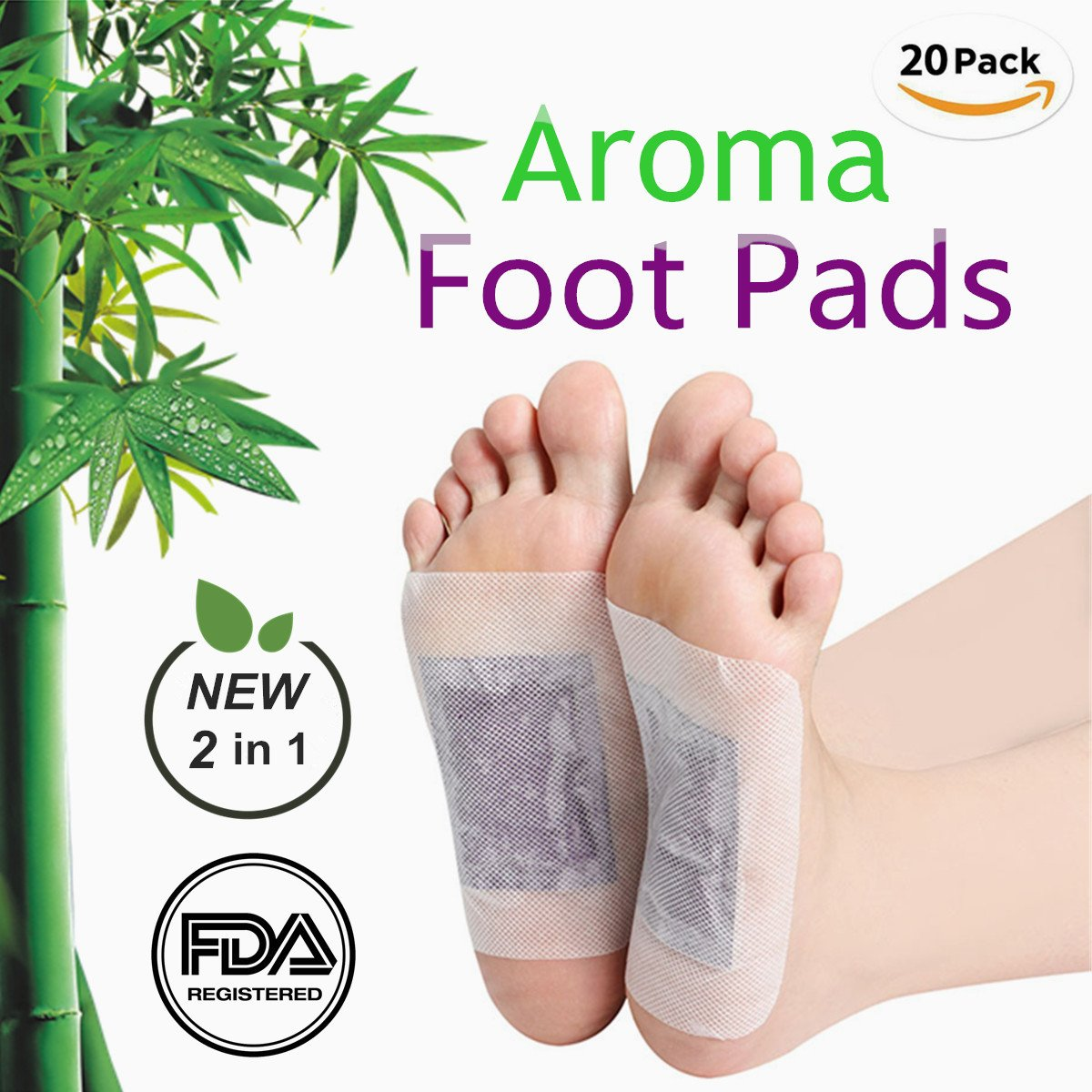 Foot Pads, 20 Pcs Foot Care Relaxing Sheet for Foot Health 2018 New Upgraded 2 in 1 FDA Certified by JaBoMay