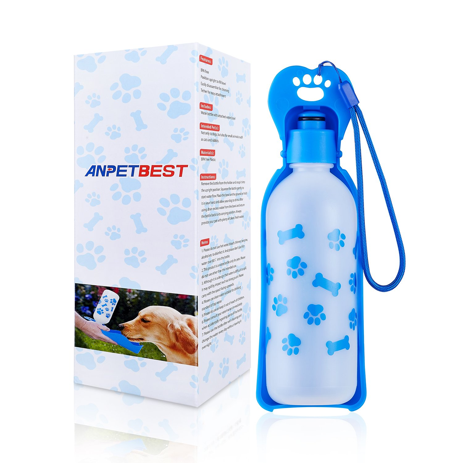 ANPETBEST Travel Water Bottle 325ML/11oz Water Dispenser Portable Mug for Dogs,Cats and Other Small Animals by ANPETBEST (Image #9)