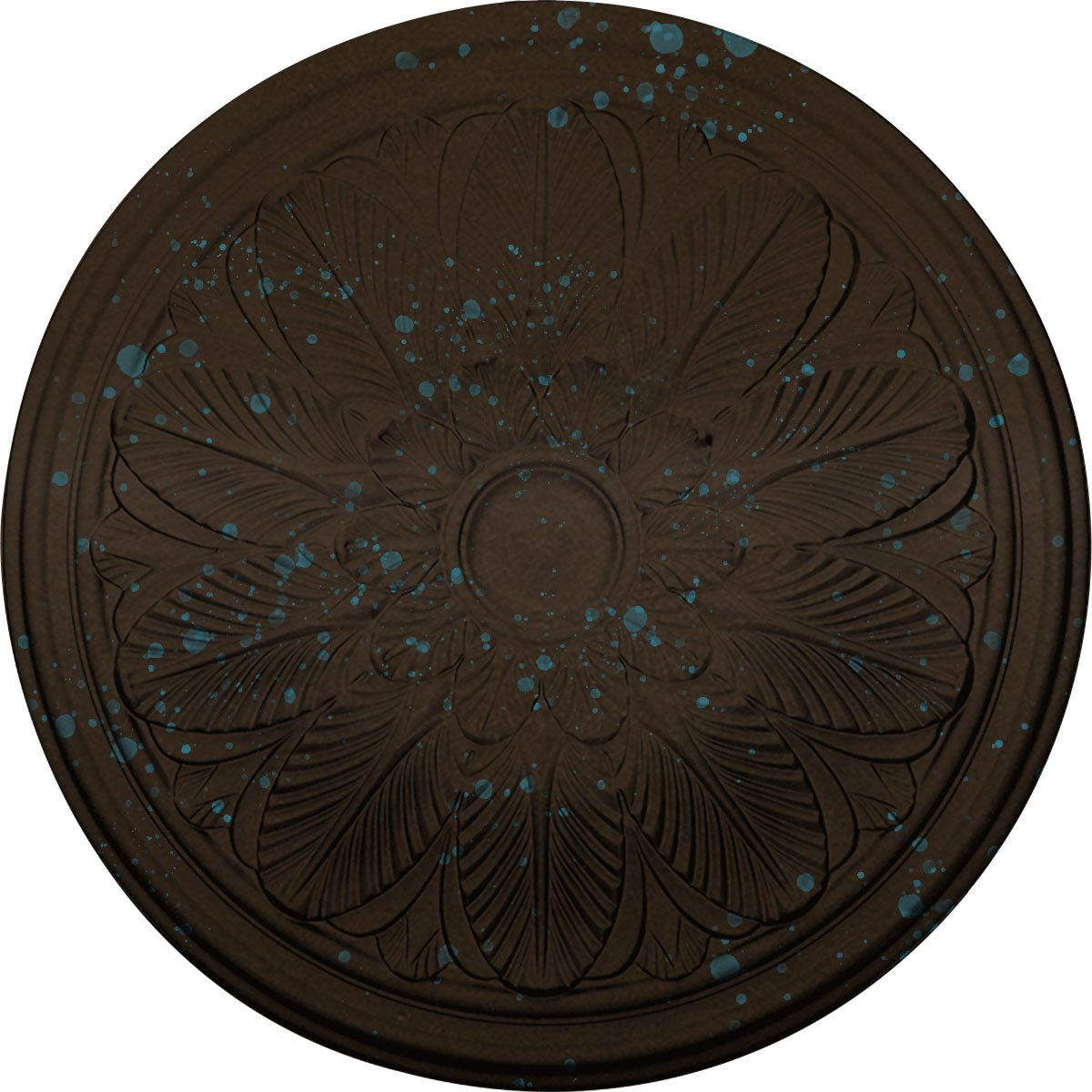 Ekena Millwork CM22BOBBS 22 5/8'' OD x 1 3/4'' P Bordeaux Ceiling Medallion (fits Canopies up to 3 1/4''), Bronze Blue Patina