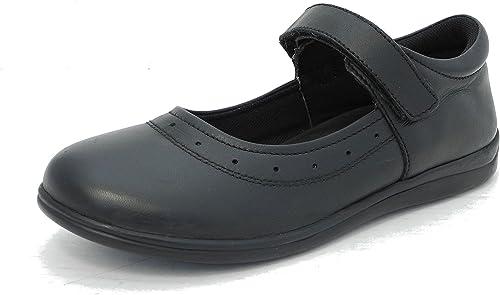 Roamer Girls Black Real Leather Instep
