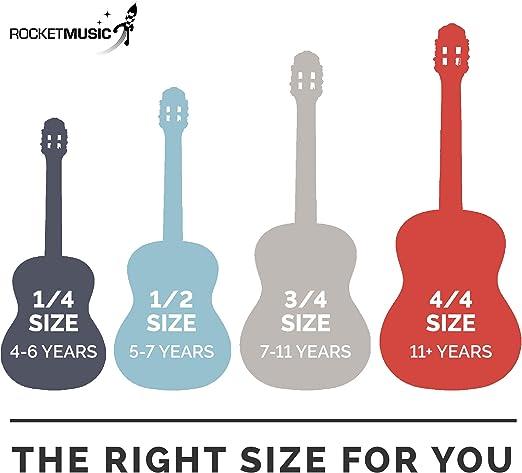Rocket XF201CN XF Serie - Guitarra española clásica, color natural ...
