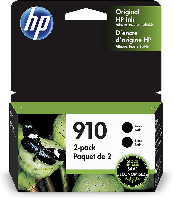 HP 910 | 2 Ink Cartridges | Black | 3YL61AN