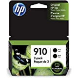 HP 910 | 2 Ink Cartridges | Black | Works with HP OfficeJet 8000 Series | 3YL61AN