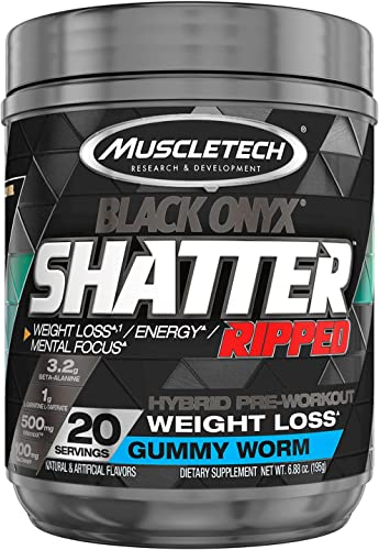 MuscleTech Shatter Ripped Black Onyx – Gummy Worm
