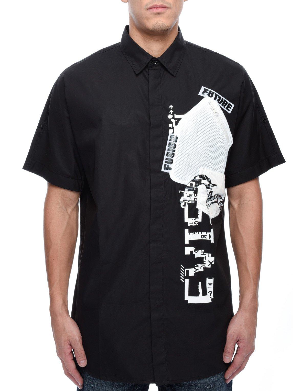 Black Zip Pocket Short Shirt