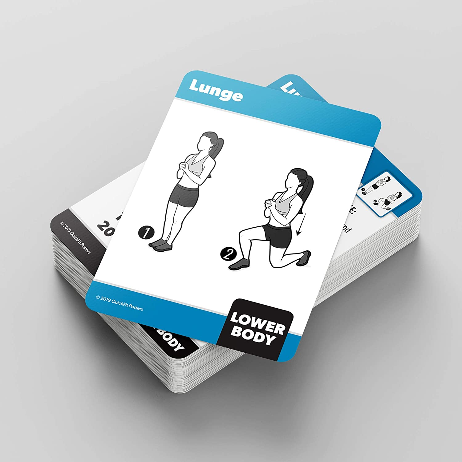 Laminated 18 x 27 /& Bodyweight Exercise Playing Cards QuickFit 2 Pack 2.5 x 3.5 Stretching Exercise Poster