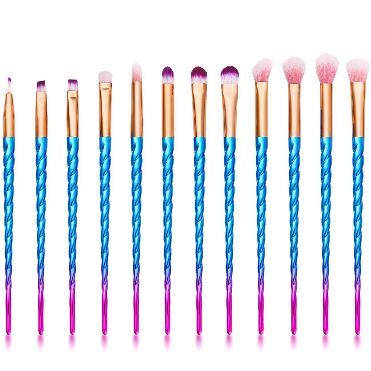 Amazon.com: 16PCS Makeup Brush Set, MYSWEETY 2017 12PCS Foundation Colorful Unicorn Blending Cosmetic Eyeshadow Brush + 2pcs Silicone Makeup Sponge + 1pc Makeup Wash Egg + 1pc Makeup Brush Bag: Beauty - 웹