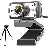 Spedal Webcam con Trípode 120° Gran Angular Full HD 1080P Cámara Web para Videoconferencia Webcam con Micrófonos…