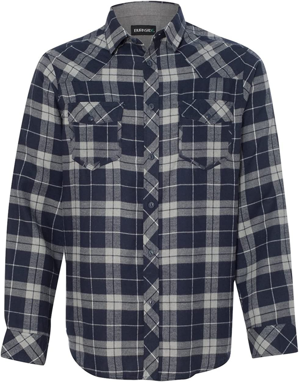 Burnside Men's Yarn-Dyed Long Sleeve Flannel Shirt