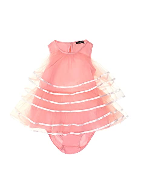 Gulliver Baby Mädchen Kleid   Farbe Hell Rosa   Ärmellos   Lockere Passform   Tüllrock   für 9-24 Monate