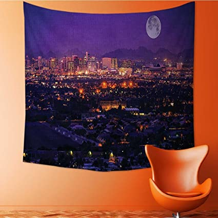Home Decor Phoenix Arizona Full Over Downtown Residential Areas Tapestry Wall Hanging Art For