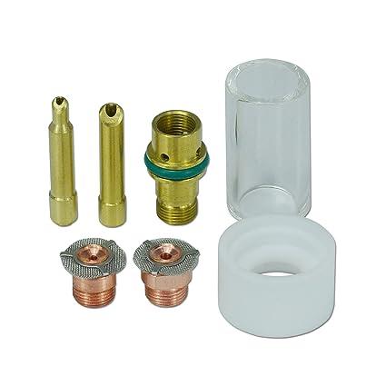 1,6 mm 2,4 mm Ahorrador de gas Pyrex taza consumibles Kit para 17 18 ...