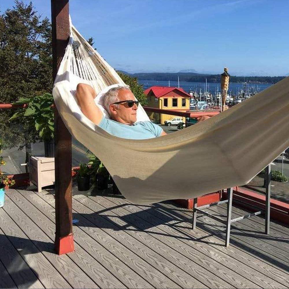 KEPEAK Cotton Hammock, Brazilian Double Hammock, Soft Comfortable Fabric Canvas Hammock for Patio, Porch, Garden and Backyard: Furniture & Decor