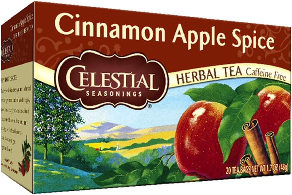 Celestial Seasonings Herbal Tea Caffeine Free Cinnamon Apple Spice - 20 Tea Bags