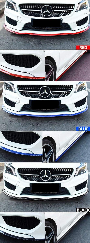 WeiMo Universal Carbon Fiber Front Bumper Spoiler Kit,Front Bumper Lip Splitter Spoiler Side Skirt for Car DIY Decoration Refit Black WeiMo Tech