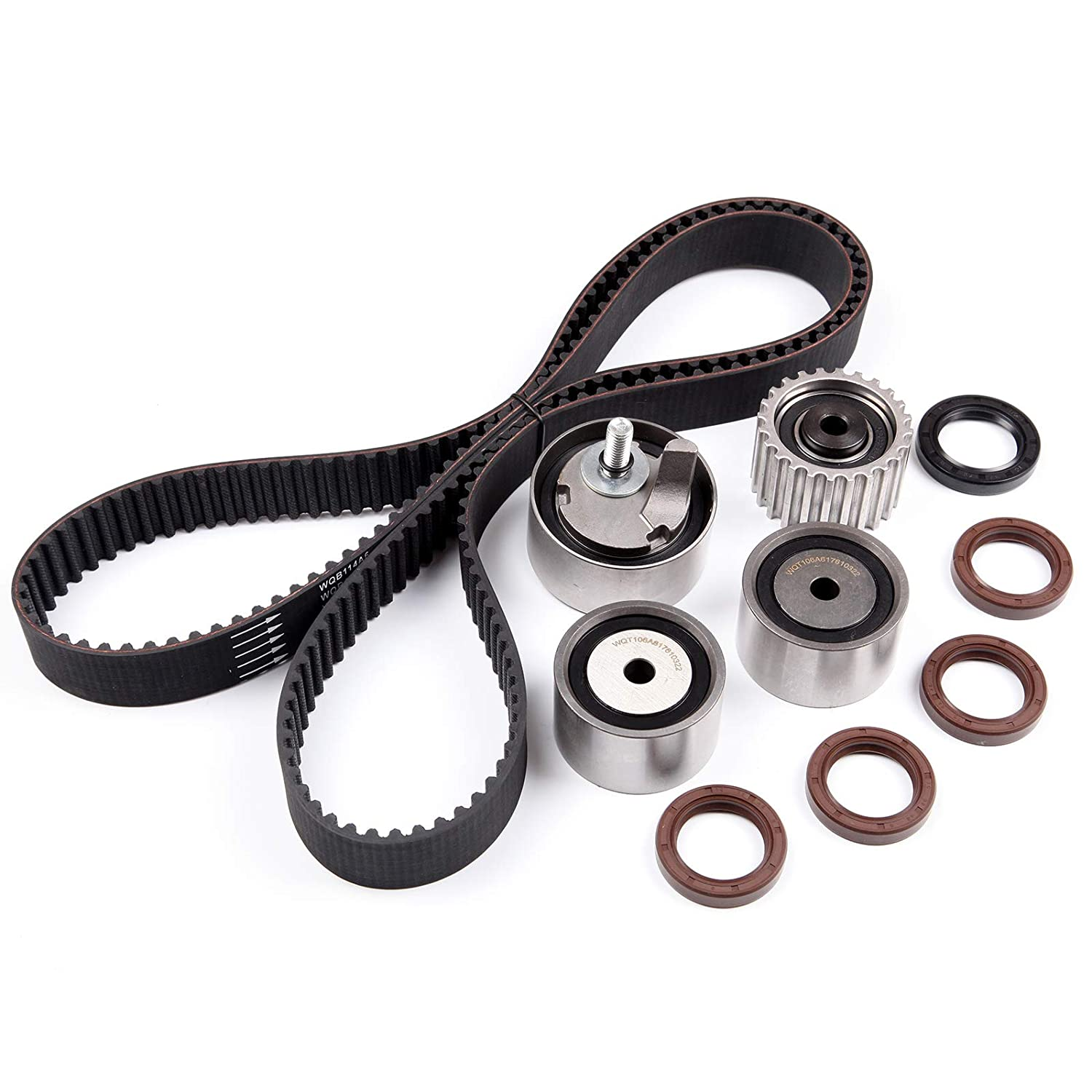 SCITOO Timing Belt Kit EJ18E EJ22E for 93-97 Subaru Impreza 1.8L 1781CC H4 SOHC