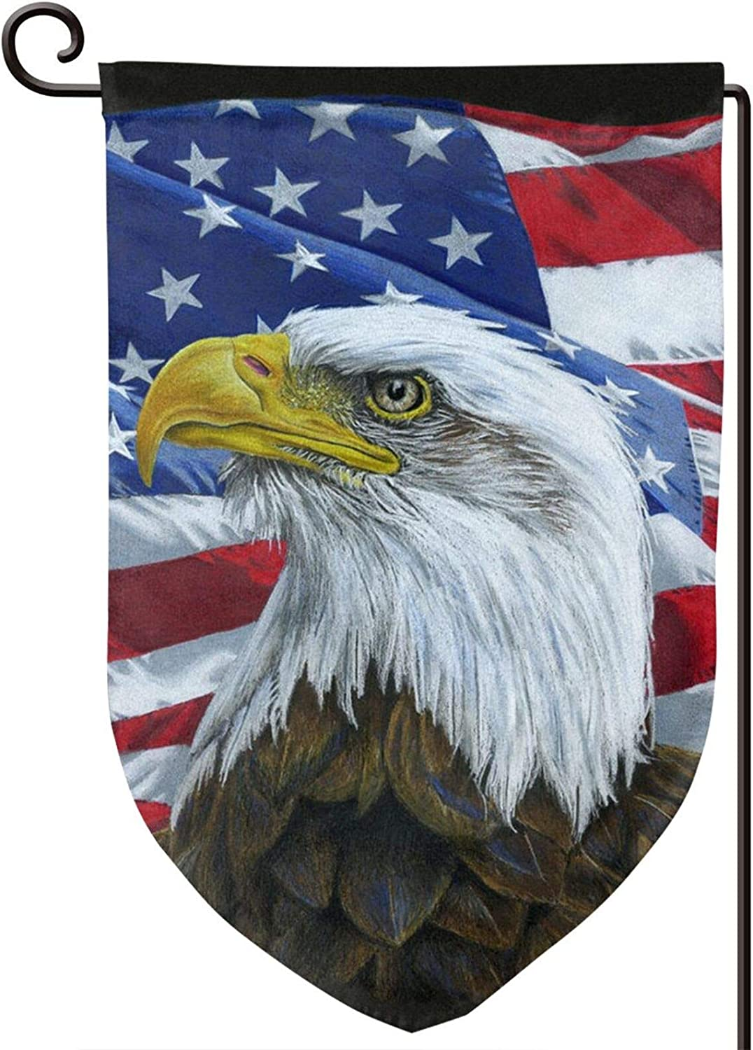 YIEASY Home Garden Flags, American National Flag and Eagle Garden Flags,Novelty Flag Banners 12.5