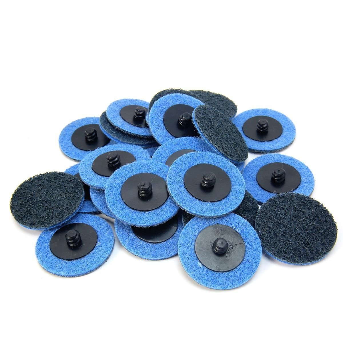 25pc 2'' Fine Grit Roloc Cleaning Conditioning Roll Lock Surface Sanding Discs