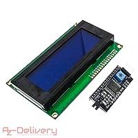 AZDelivery ⭐⭐⭐⭐⭐ HD44780 2004 LCD Display Bundle 4x20 Zeichen mit I2C Schnittstelle für Arduino mit gratis eBook!