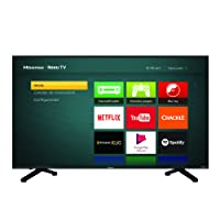 Hisense 43R6DM Televisor LCD, Pantalla 43R6 UHD 4K, Sistema Roku Televisor, Color Negro