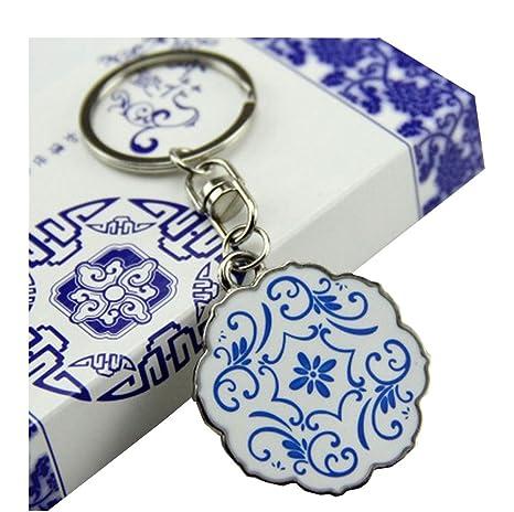 Amazon.com: Llavero de estilo chino, duradero, con diseño de ...