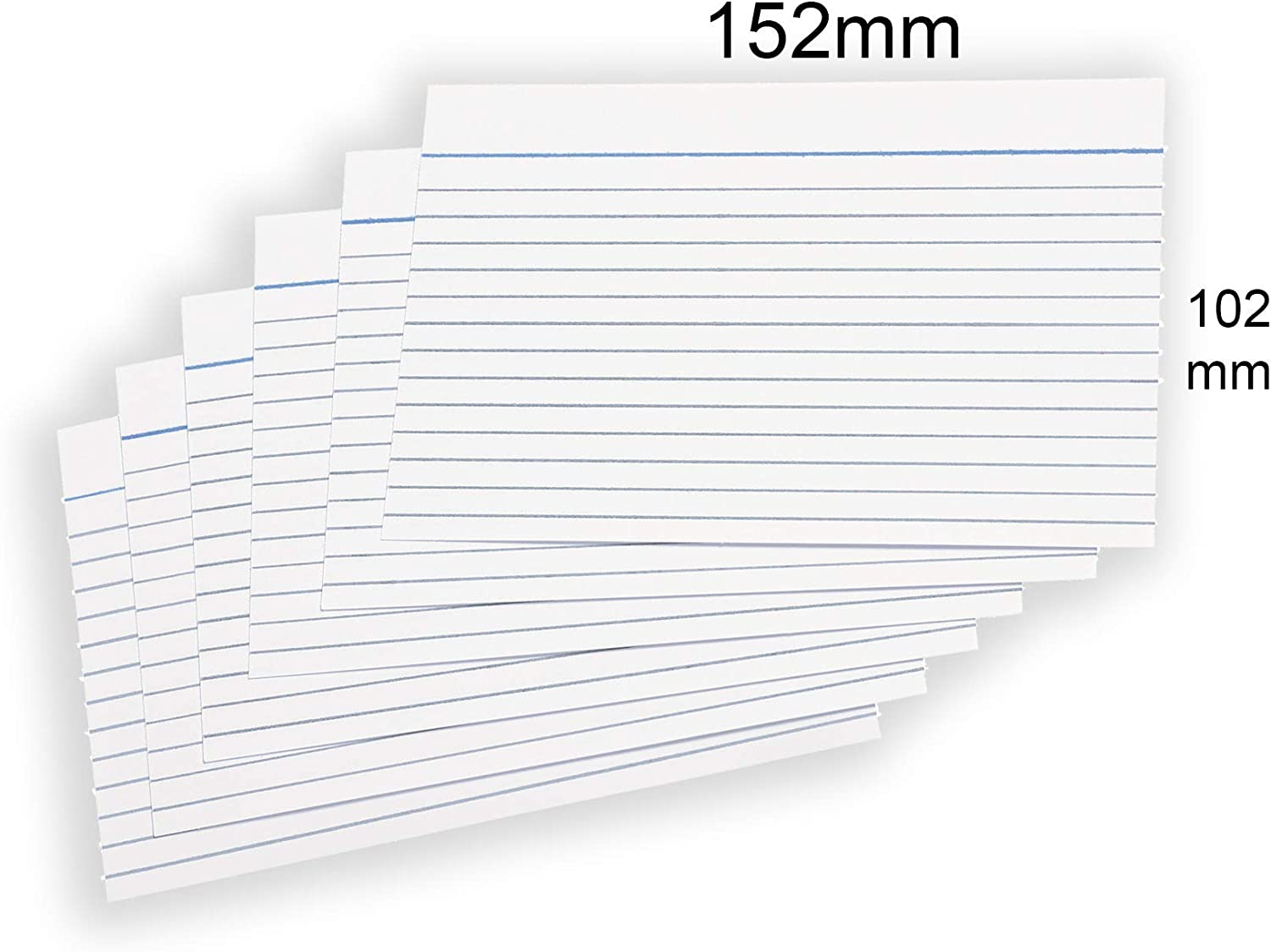A6 Revision Cards 6x4 White Record Cards FlashCards Ruled 152mm x 102mm Blank Flash Cards Index Cards 6x 4 800 Pack